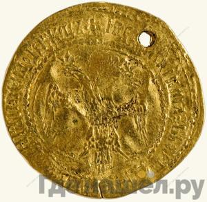 Реверс Жалованный золотой 1589 года  - 1605 Борис Федорович