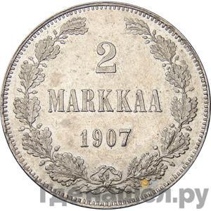 Аверс 2 марки 1907 года L Для Финляндии