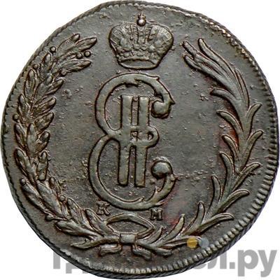 Аверс 2 копейки 1768 года КМ Сибирская монета