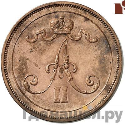 Реверс 10 пенни 1876 года  Для Финляндии